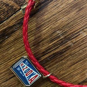 Bazooka Coach leather braided bracelet